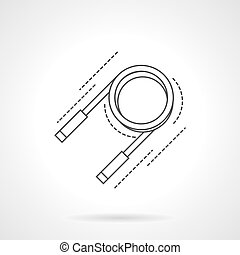 Expander flat line vector icon - Round expander with...