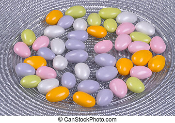 Colorful candy coated chocolate peanuts