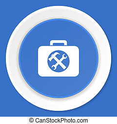 toolkit blue flat design modern web icon
