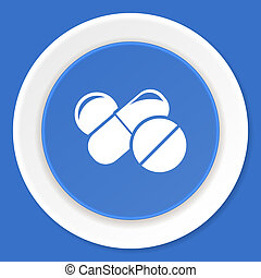 medicine blue flat design modern web icon