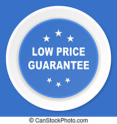 low price guarantee blue flat design modern web icon