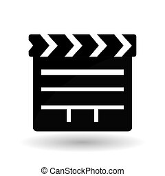 Movie clapboard design , vector illustration