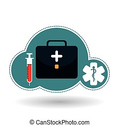 medical kit design - medical care concept with icon design,...