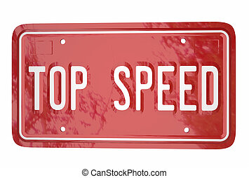 Top Speed Car Vehicle Race Driving Win Competition License...