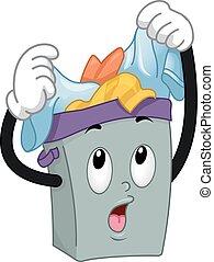 Mascot Hamper Overloaded Clothes - Mascot Illustration of a...