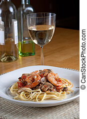 Shrimp Scampi with Linguine - A delicious shrimp scampi over...