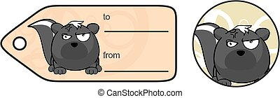 skunk ball expression cartoon9 - funny skunk ball expression...