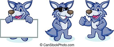Wolf Mascot Vector happy