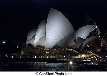 Sydney Harbour at Night - View of Sydney Harbour in...