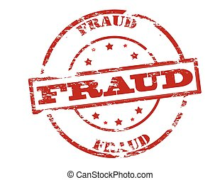 Fraud - Rubber stamp with word fraud inside, vector...