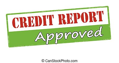 Credit report approved - Rubber stamp with text credit...