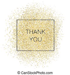Thank You Gold Inscription