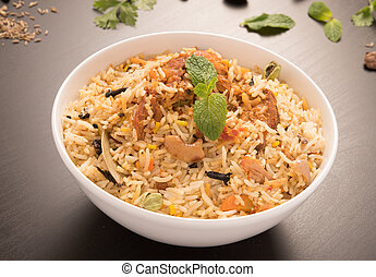 Yummy delicious chicken biryani