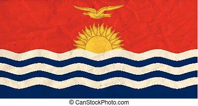 Kiribati paper flag - Vector image of the Kiribati paper...