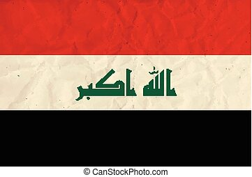 Iraq  paper flag - Vector image of the Iraq  paper flag