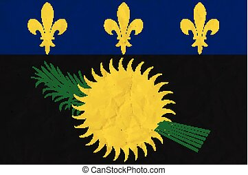 Guadeloupe paper flag - Vector image of the Guadeloupe paper...