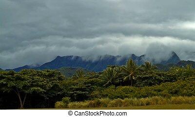 Timelapse, Kualoa Regional Park, Oahu, Hawaii - 4K...