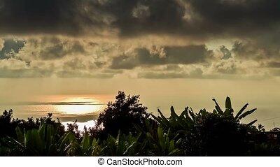 4K Timelapse,  Sunset On Maui, Hawaii