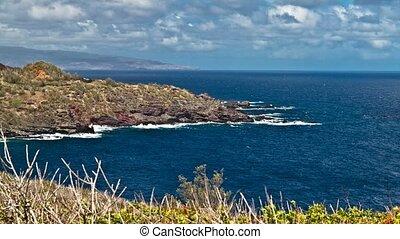 4K Timelapse, Kahakuloa Bay, Maui, Hawaii, USA