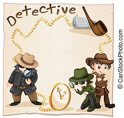Detectives looking for clues