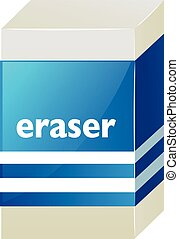 Eraser with blue label
