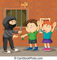 Kids being robbed on the street