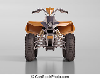 ATV Quad Bike - ATV quad bike, studio shooting, soft...