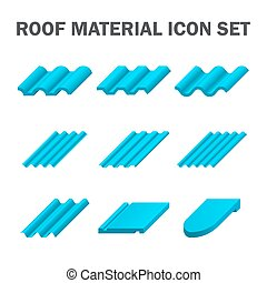 Roof tile icon - Roof material vector icon set design.