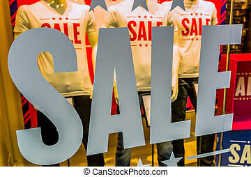 sale in the summer in a boutique