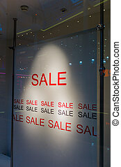 sale commercially - in a showcase of a shop is made to the...
