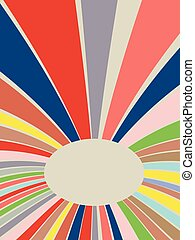 Colorful Rays Background - Abstract art colorful lines,...