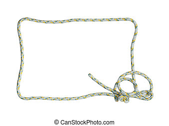 Rope Frame On White