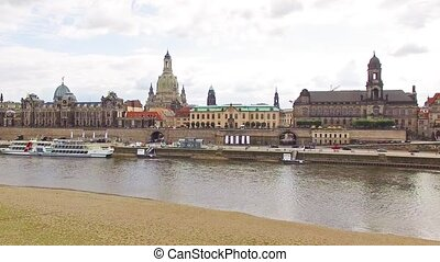Historic center of Dresden. Saxony, Germany.