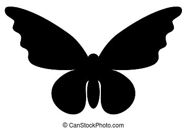 Abstract butterfly silhouette isolated on white