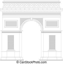 Triumphal arc in Paris, France 1 - Triumphal arc in Paris,...