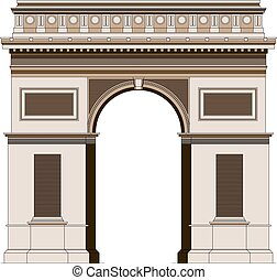 Triumphal arc in Paris, France 2 - Triumphal arc in Paris,...