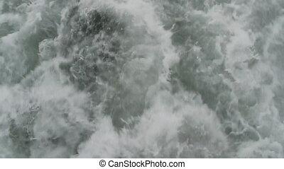 Water foam - Water foam from the backside of the ship...