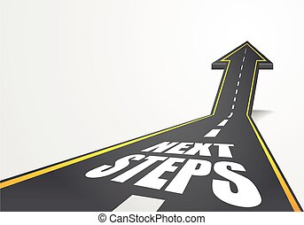 road Next Steps - detailed illustration of a highway road...