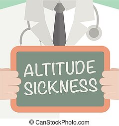 Board Altitude Sickness - minimalistic illustration of a...