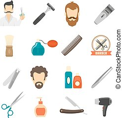 Barber Color Icons