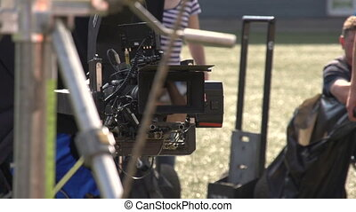 View of the video camera - view of the video camera and by...