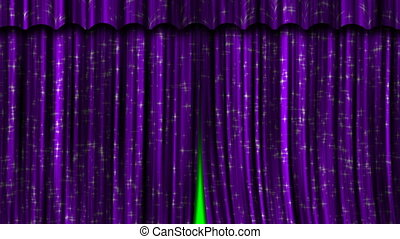 Purple Curtains Open and Close.