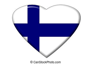 Finnish flag heart - A heart in the shape of the Finnish...