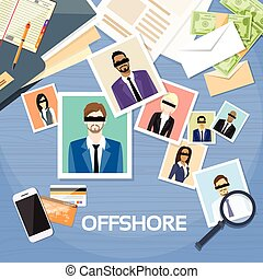 Offshore Papers Documents Company Business People Photo...