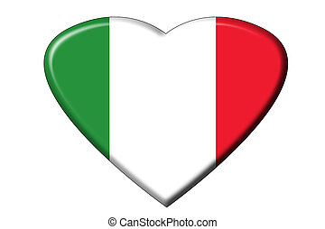 Italian flag heart - A heart in the shape of the Italian...