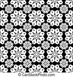 monochrome seamless pattern vintage ethnic ornament on a black background