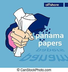 Panama Papers Business Man Hide Private Document - Panama...