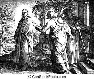 Disciples on Road to Emmaus - These engravings were written...