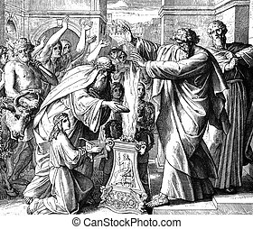 Paul and Barnabas Treated as Gods - These engravings were...