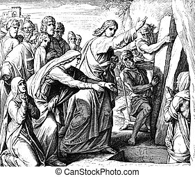 Jesus Calls to Lazarus - These engravings were written and...